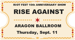 Rise Against Ticket Graphic