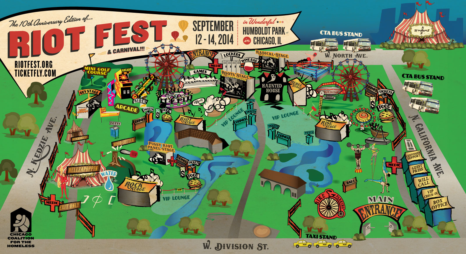 Riot Fest Map Chicago Cultivora   Here's the Map for Riot Fest Chicago's New Location