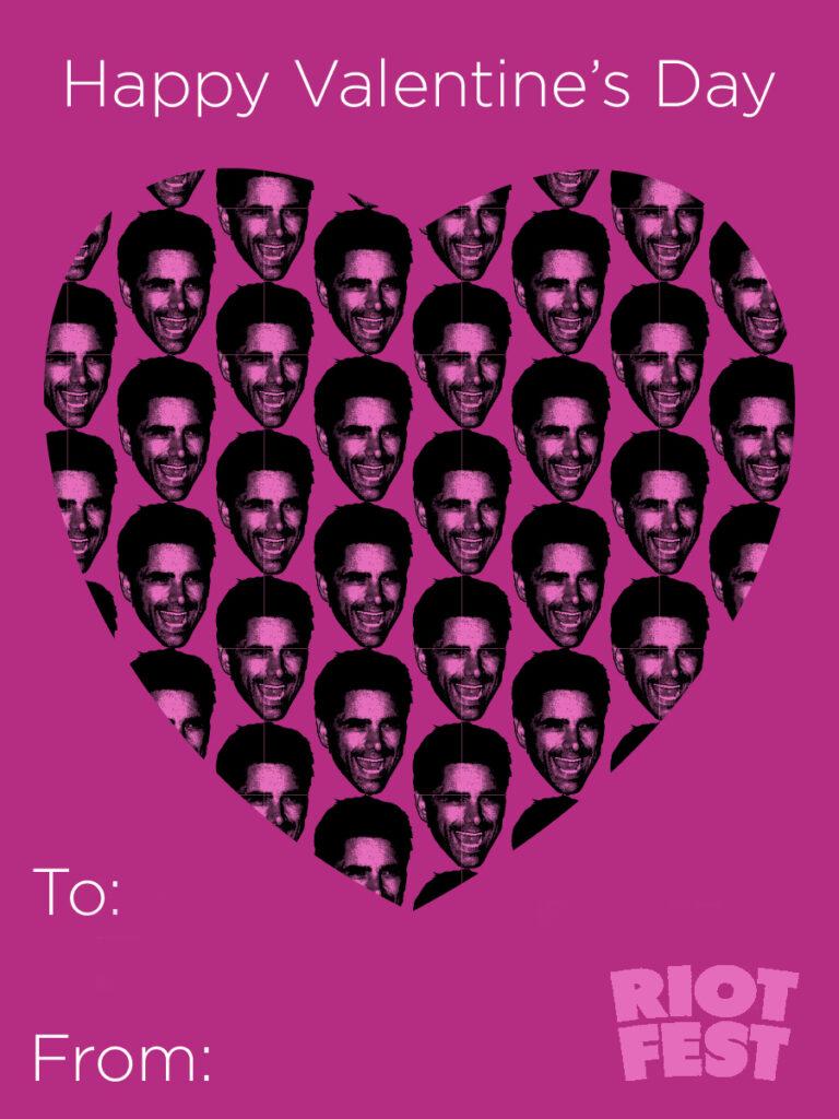 riot fest valentine's day cards  riot fest