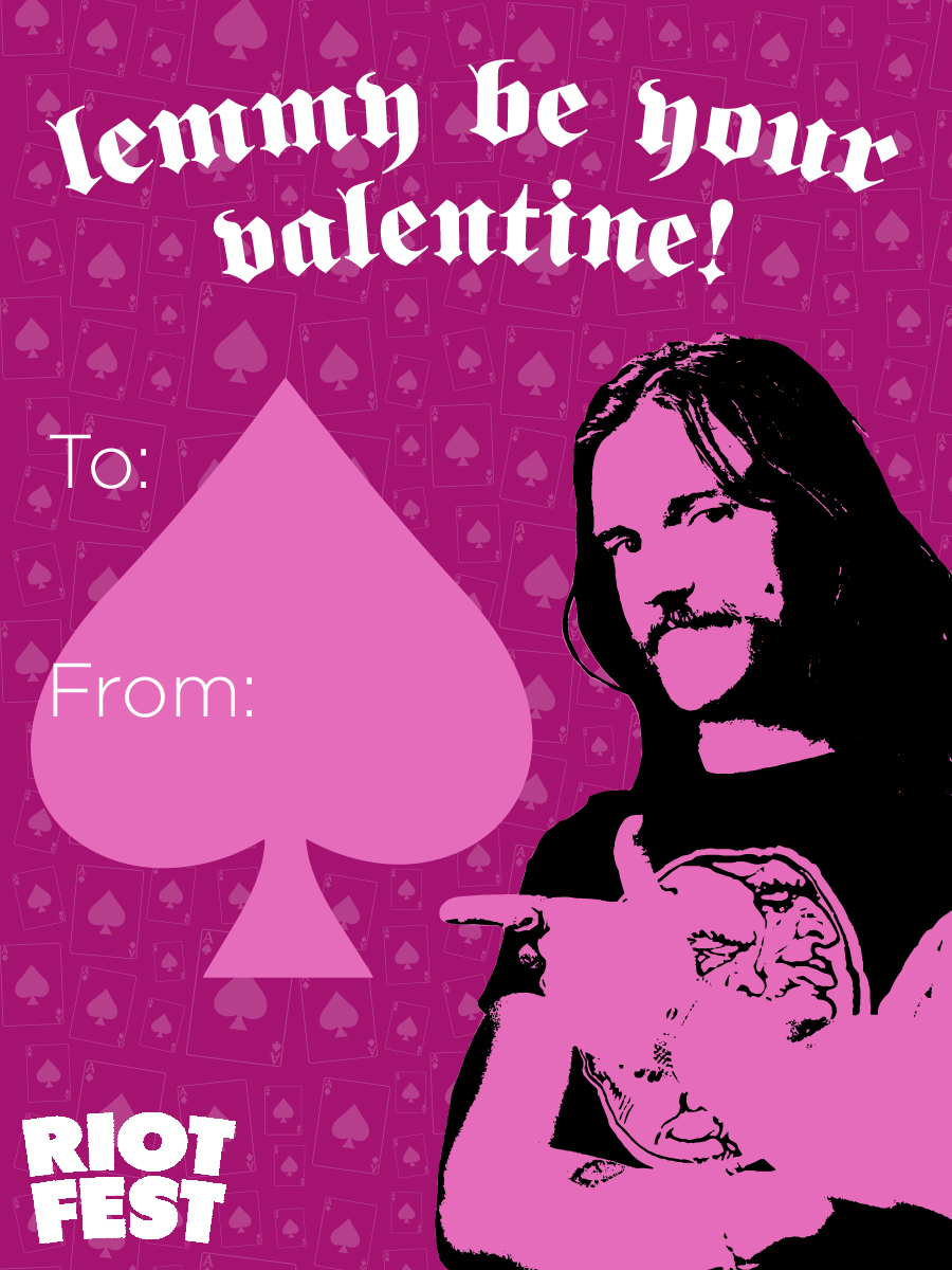 RIOT FEST VALENTINES DAY CARDS Riot Fest – Late Valentine Cards