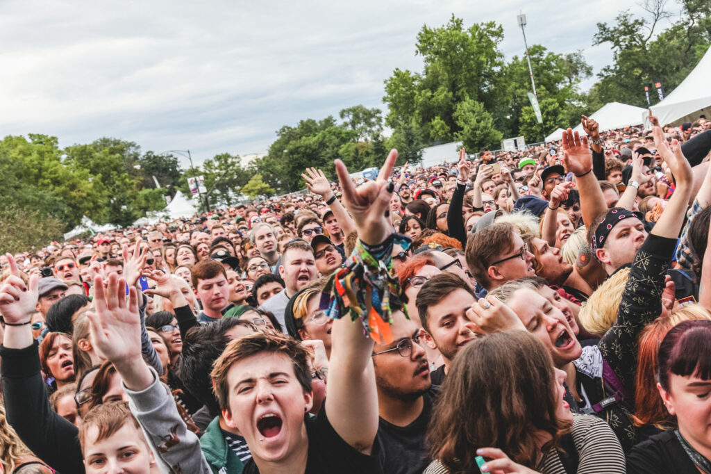 Crowd at Against Me! - Riot Fest 2015