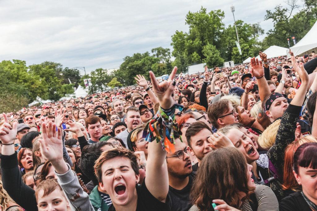 Crowd at Against Me! - Riot Fest 2015