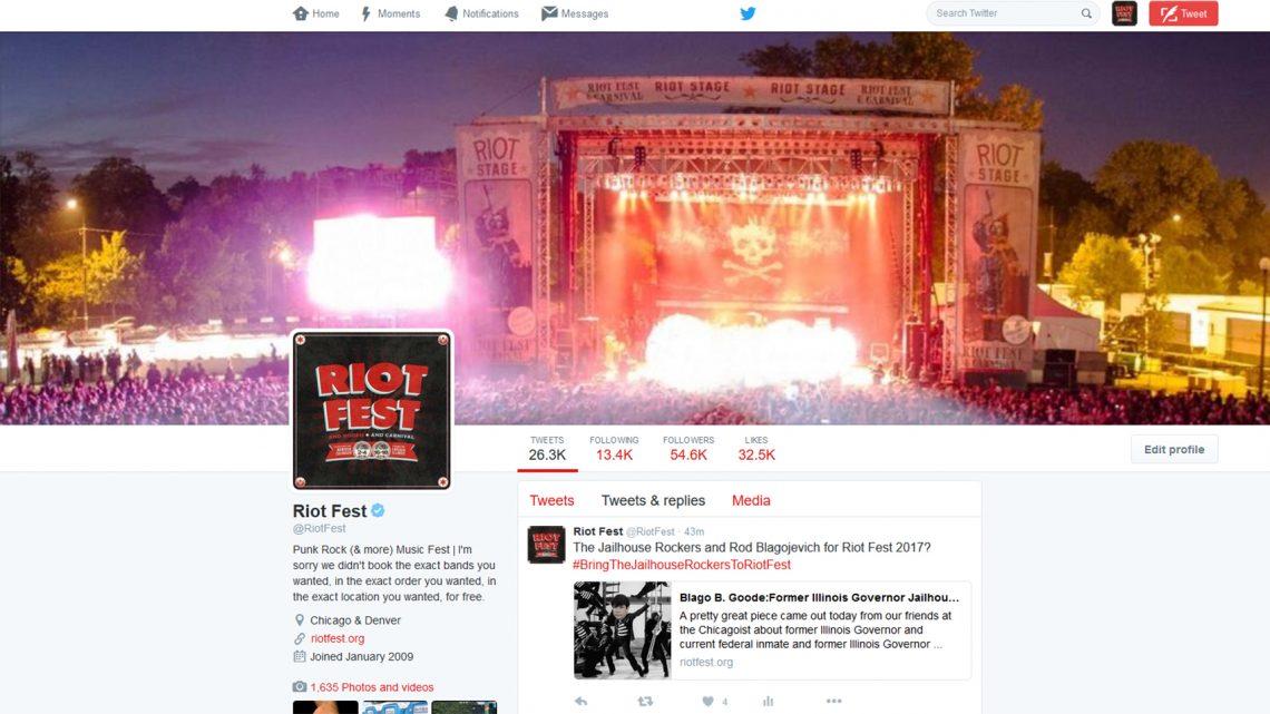 riot fest twitter header