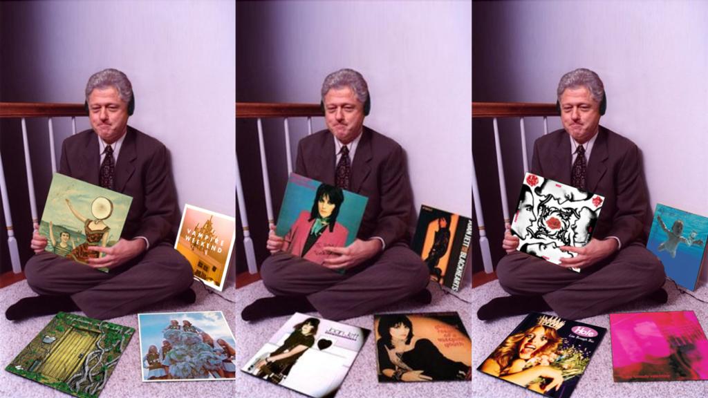 bill clinton records