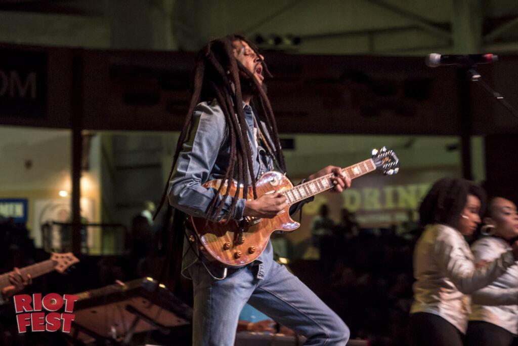 Julian Marley plays Riot Fest Denver, by Matt Hoodhood