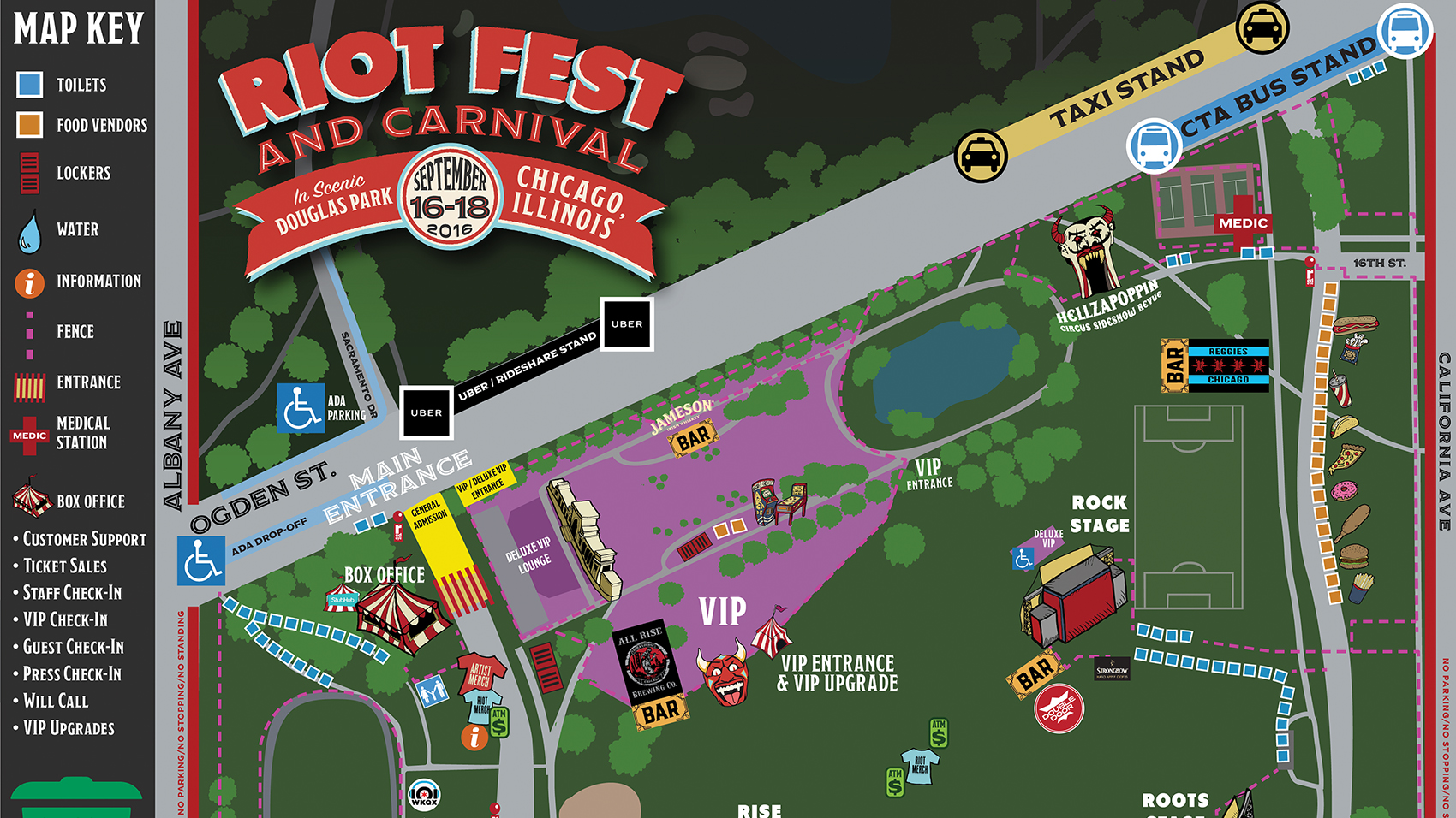 Riot Fest Chicago Map Is Here See You Friday Riot Fest - Chicago map app
