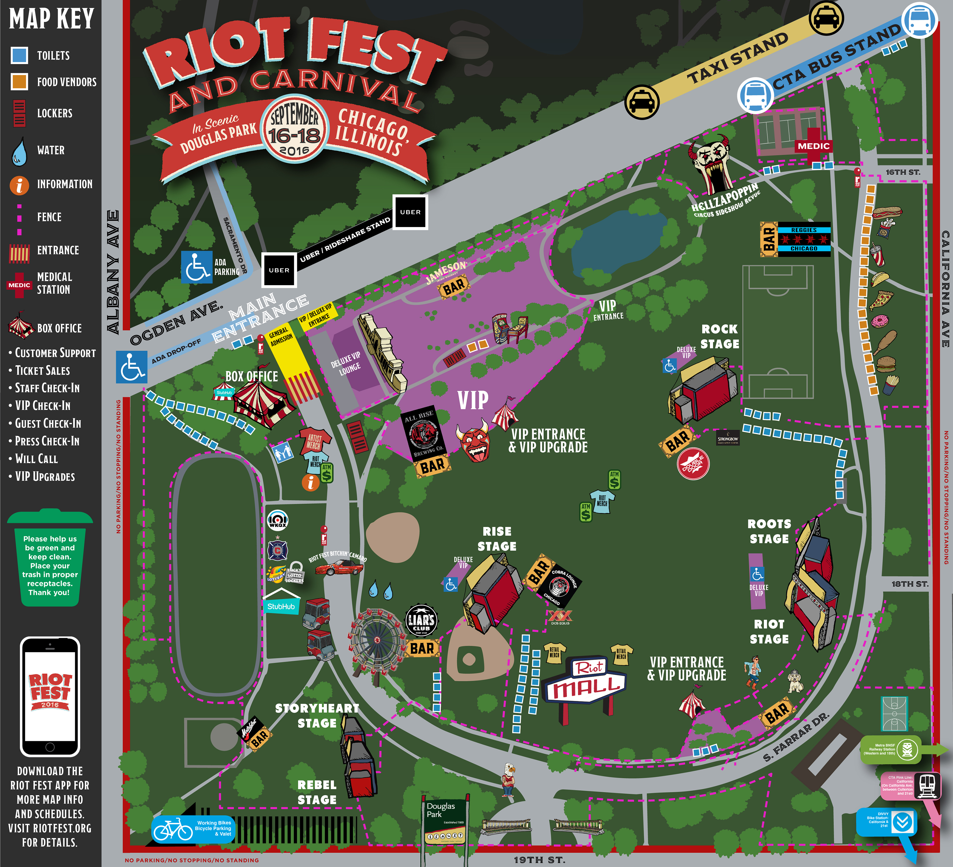 Riot Fest Map Chicago Riot Fest Chicago Map Is Here. See You Friday. | Riot Fest