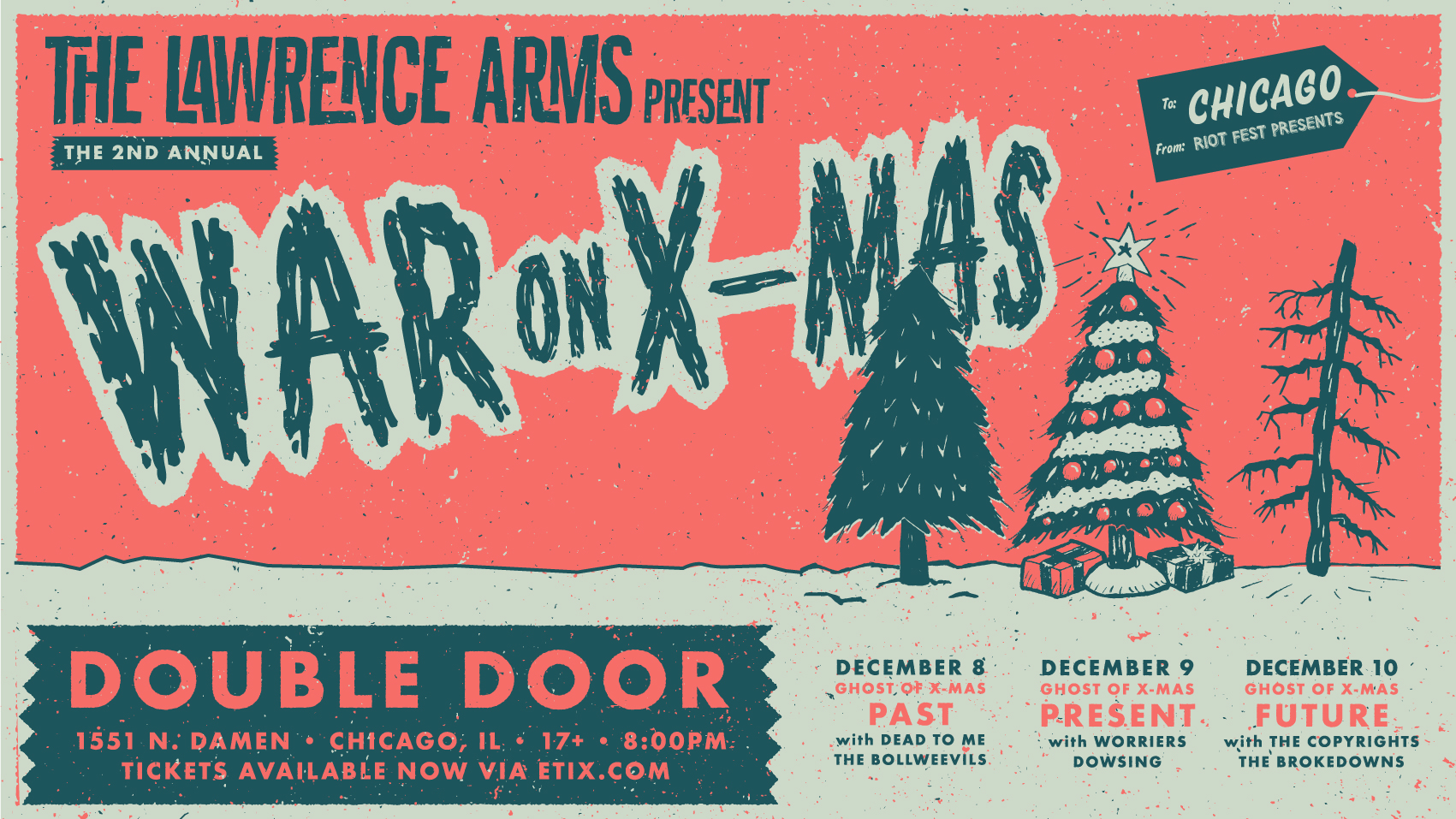 The Lawrence Arms 2nd Annual War On Christmas | Riot Fest