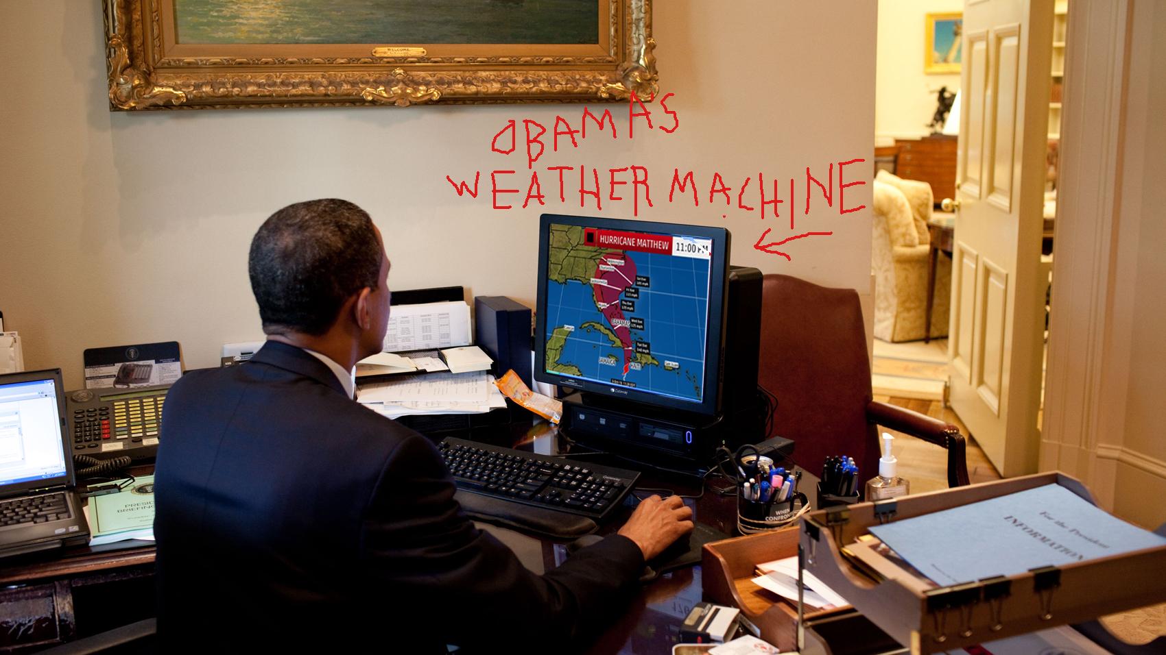 obama weather machine
