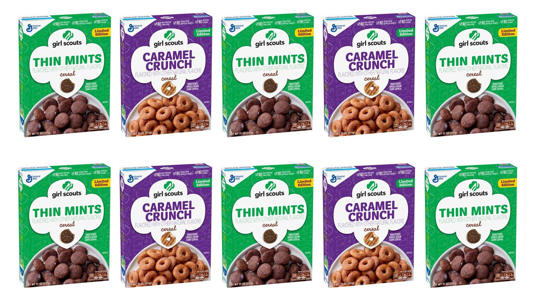 girl scout thin mint cookie cereal is coming riot fest