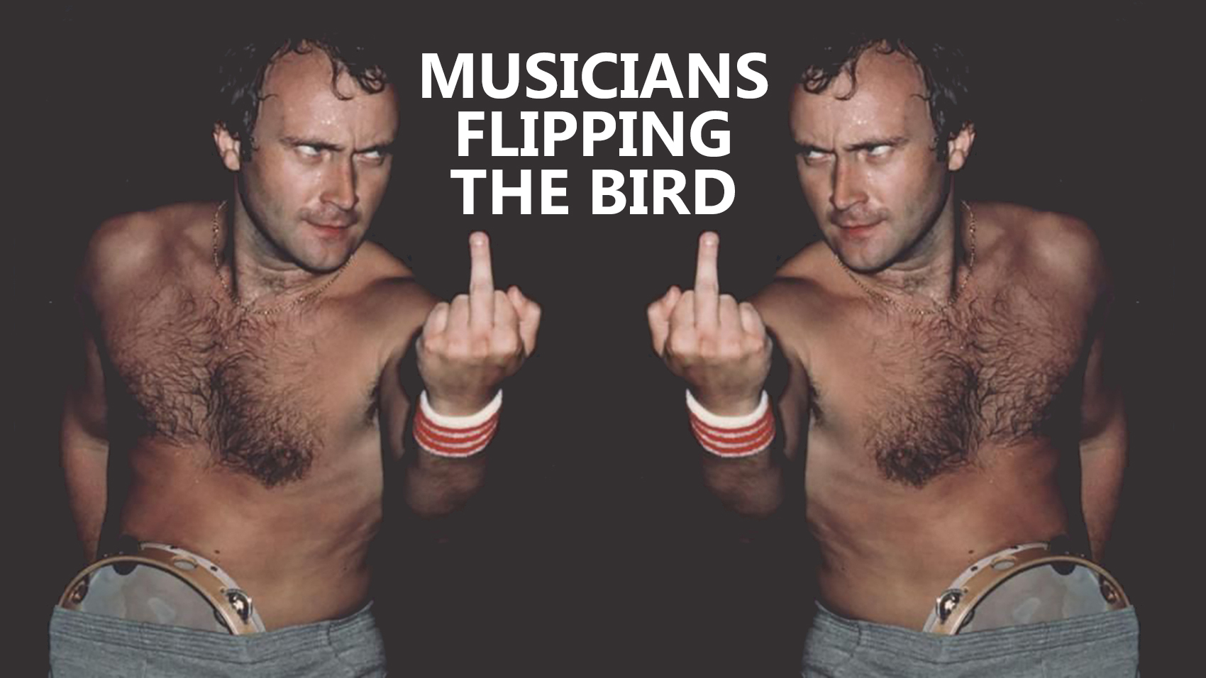 musicians flipping the bird