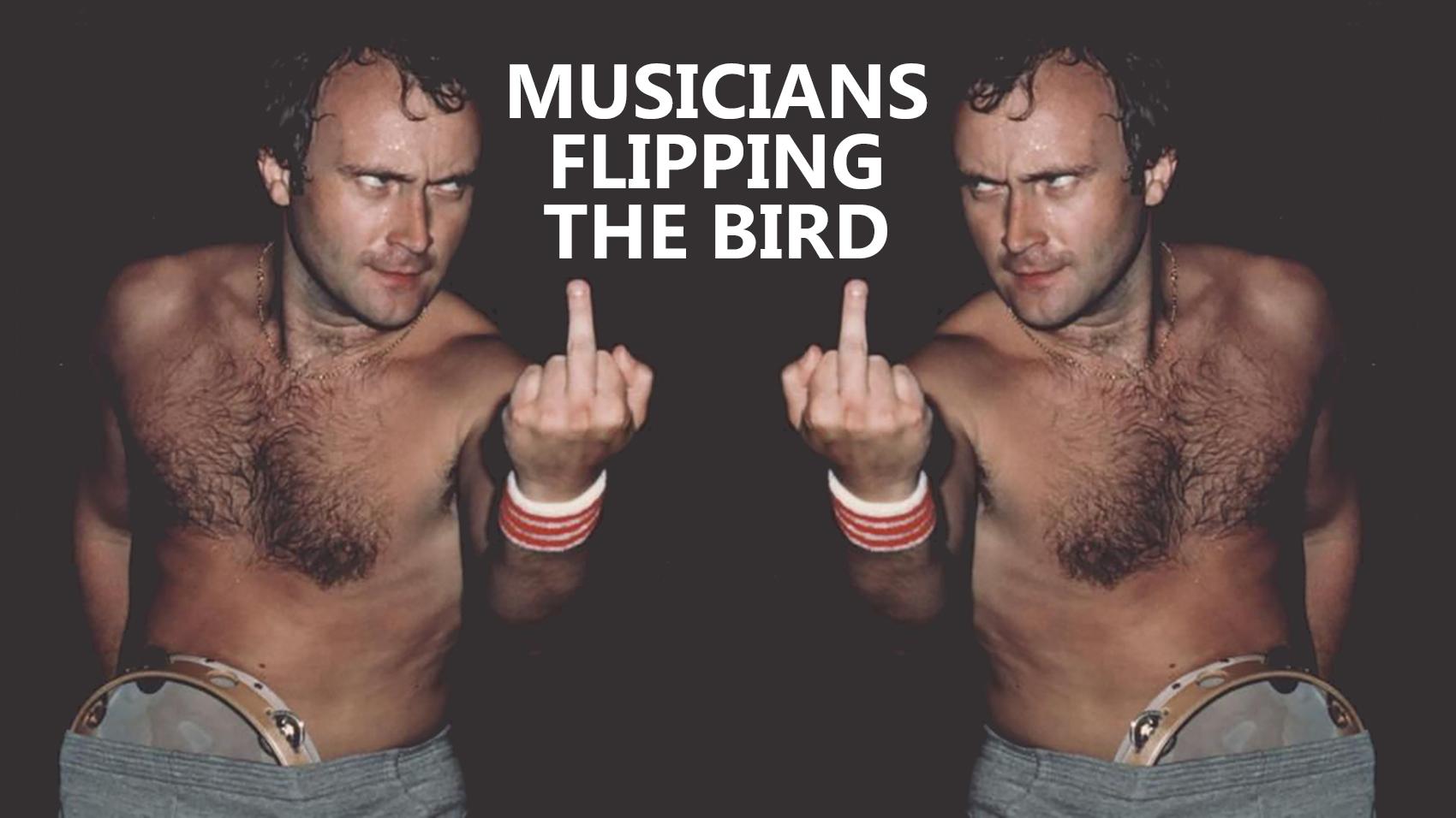 musicians flipping the bird