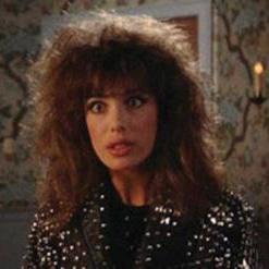 "094ae20a32 Kelly LeBrock ""Lisa"" studded leather jacket from Weird Science.(Universal,  1985) Original black leather bolero-style women's bomber jacket with short  shawl ..."