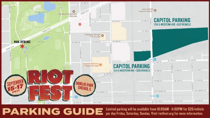 Douglas Park Chicago Map.Where The Heck Do I Park At Riot Fest Riot Fest