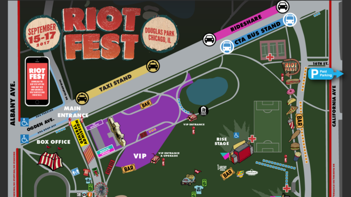 Douglas Park Chicago Map.How The Heck Do I Find Anything At Riot Fest Riot Fest