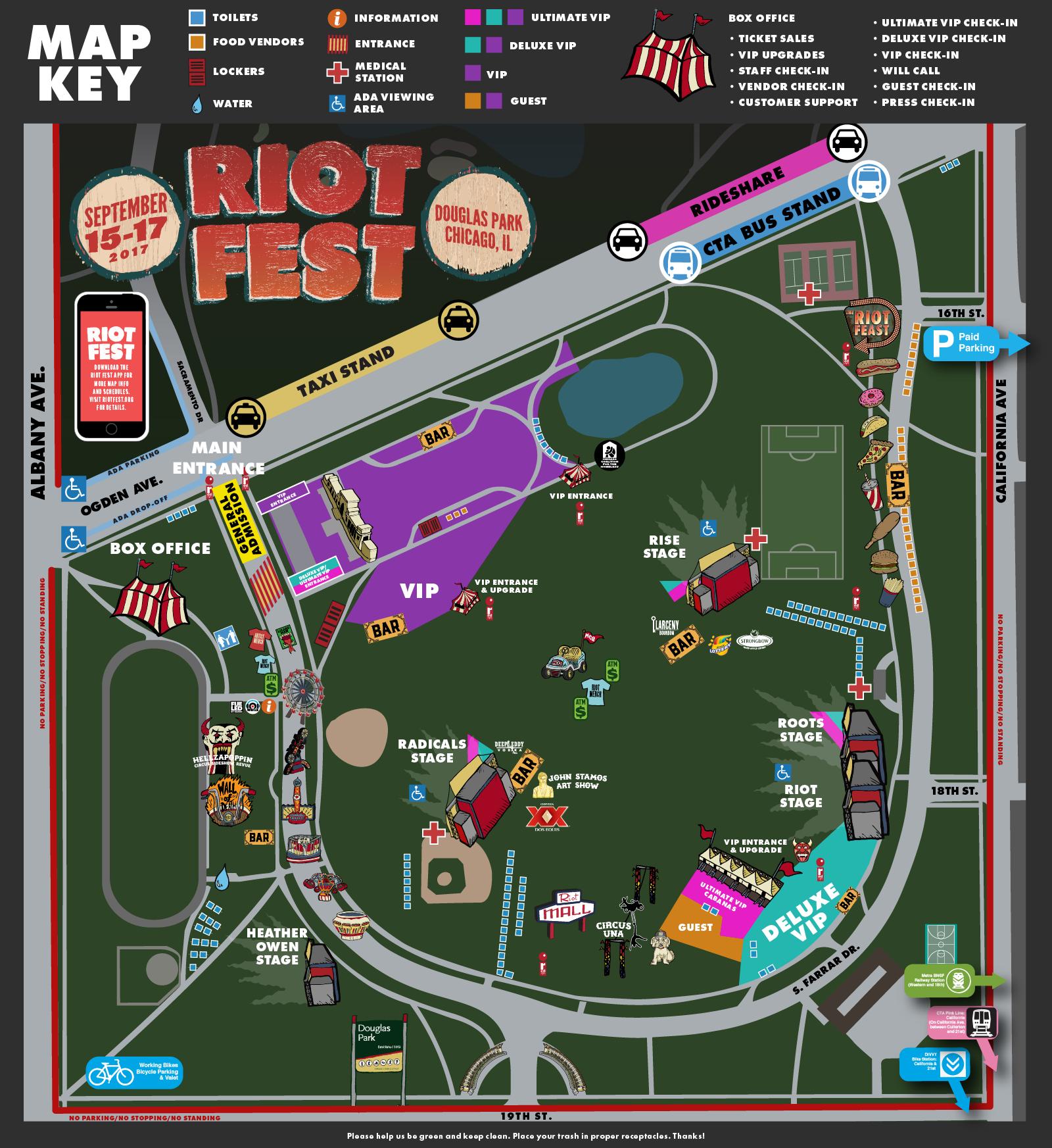 Douglas Park Chicago Map.How The Heck Do I Get To Riot Fest Riot Fest