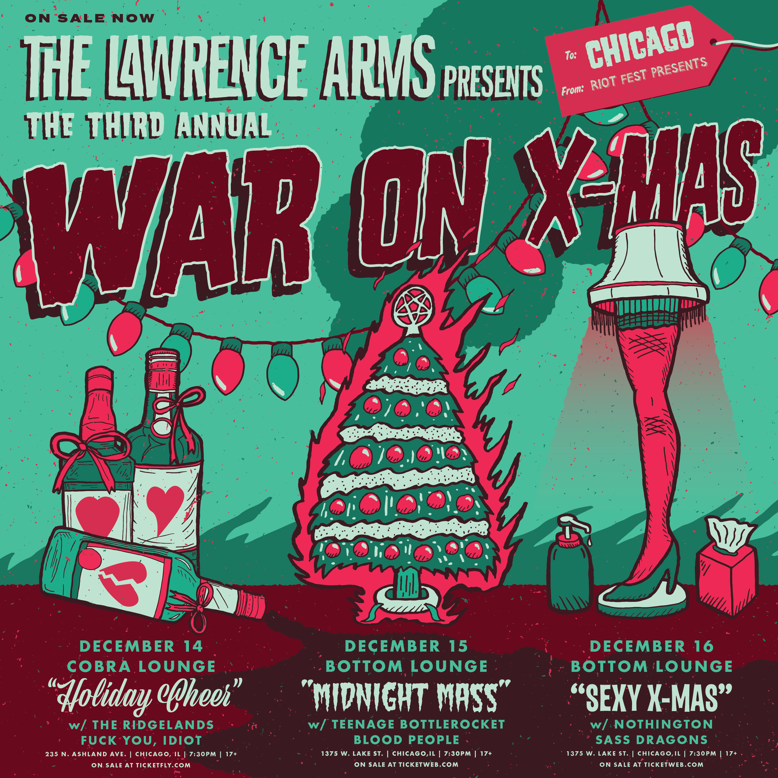 The Lawrence Arms Presents The War On X-mas: Midnight Mass | Riot Fest