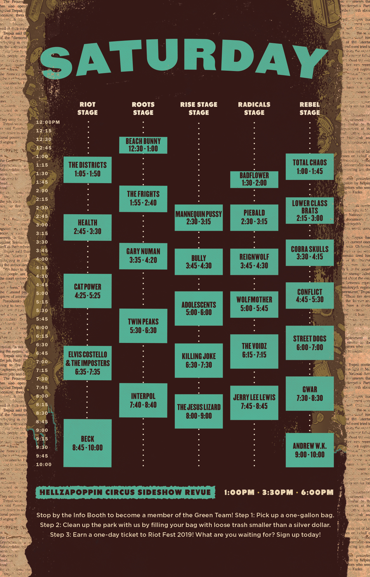 the riot fest schedule is here riot fest