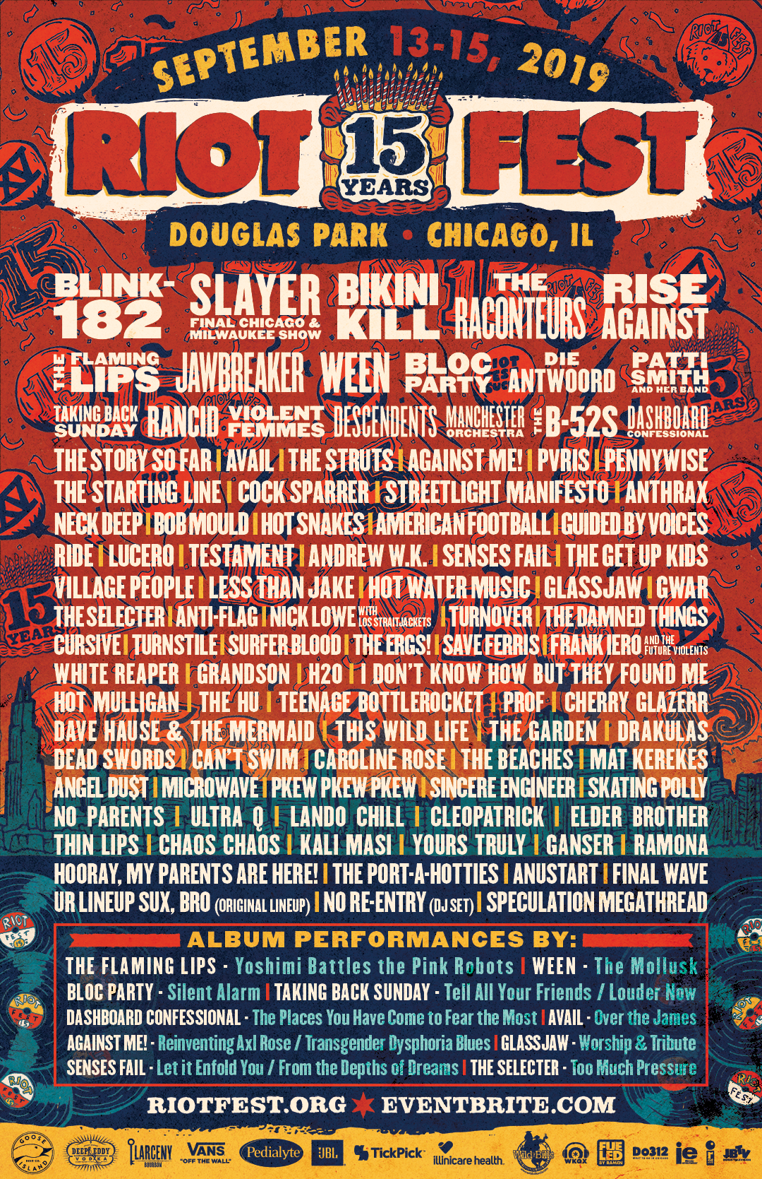 Riot Fest Chicago Tickets - No Service Fees
